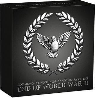 Zertifikat:Australien : 1 Dollar 75 Jahre Ende des 2. Weltkrieges  2020 PP