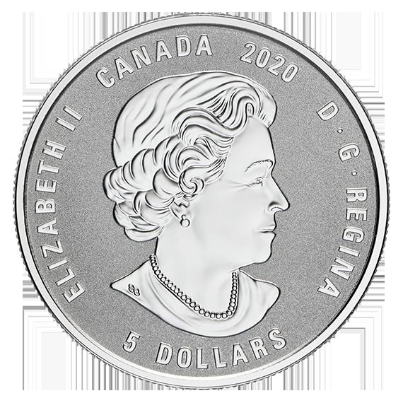 Vorderseite:Kanada : 5 Dollar Geburtsstein Mai mit Swarowskisteinen  2020 PP