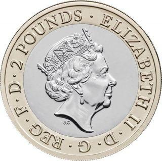 Rückseite:Großbritannien : 2 Pfund 75. Jahre Ende WW2/VE Day - im Blister  2020 Stgl.