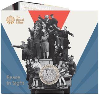 Lieferumfang:Großbritannien : 2 Pfund 75. Jahre Ende WW2/VE Day - im Blister  2020 Stgl.