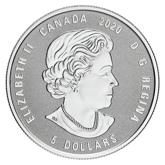Vorderseite:Kanada : 5 Dollar Geburtsstein Juli mit Swarowskis  2020 PP
