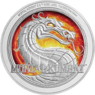 Vorderseite:Niue : 2 Dollar Mortal Kombat - Videospiel   1 oz  2020 PP