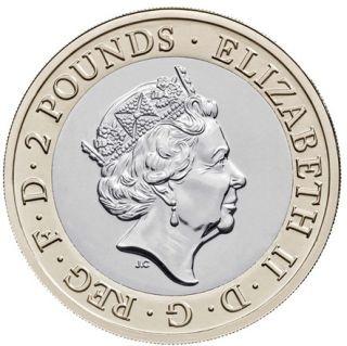 Rückseite:Großbritannien : 2 Pfund James Cook 3-250 J. Entdeckungsreise  Blister  2020 Stgl.