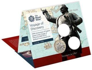 Lieferumfang:Großbritannien : 2 Pfund James Cook 3-250 J. Entdeckungsreise  Blister  2020 Stgl.