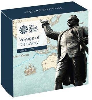 Zertifikat:Großbritannien : 2 Pfund James Cook 3 - 250 J. Entdeckungsreise  2020 PP