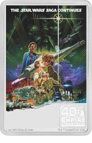 Vorderseite:Niue : 2 Dollar Star Wars Poster - The Empire Strikes Back  2020 PP