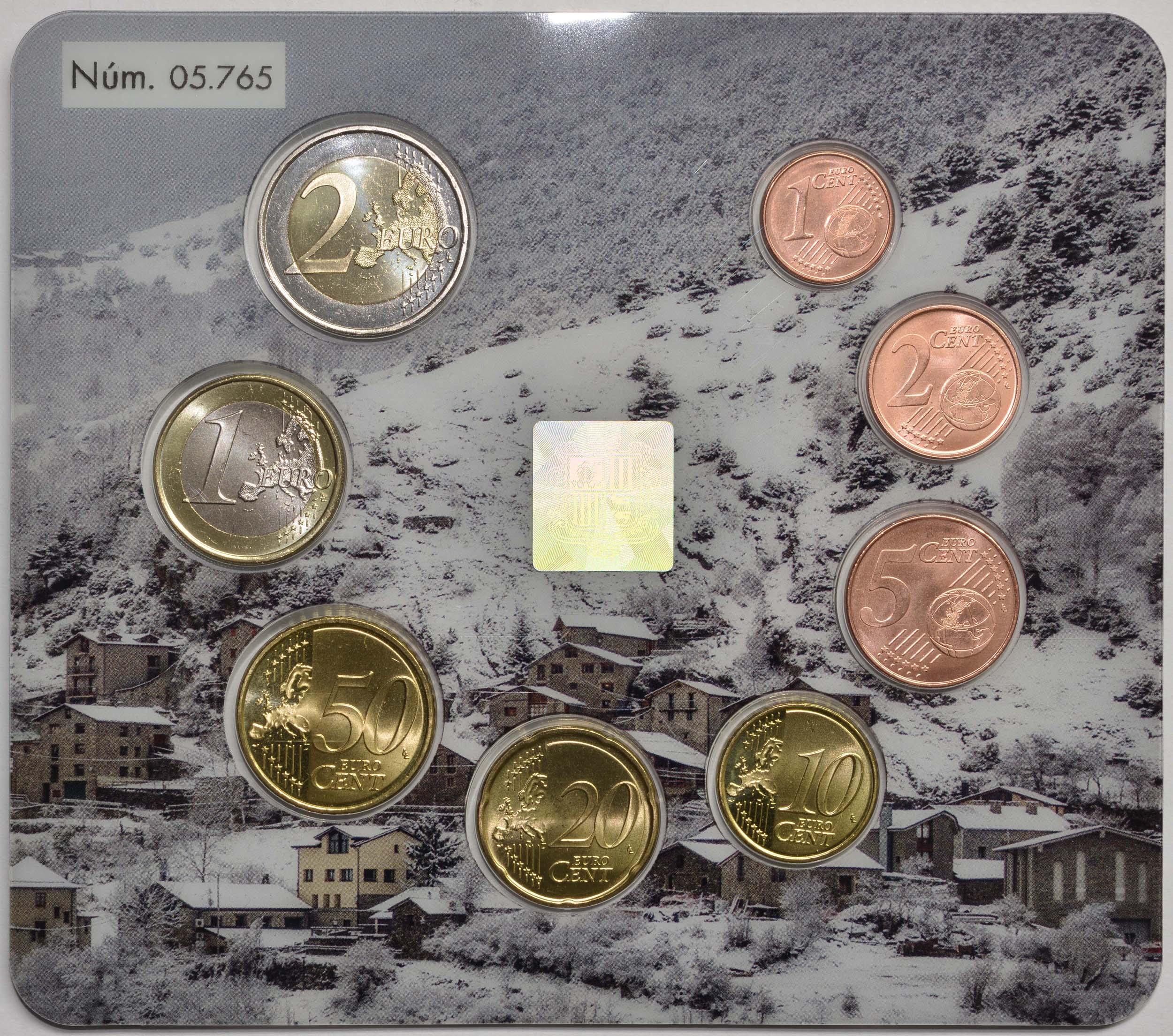 Rückseite:Andorra : 3,88 Euro KMS Andorra  2020 bfr