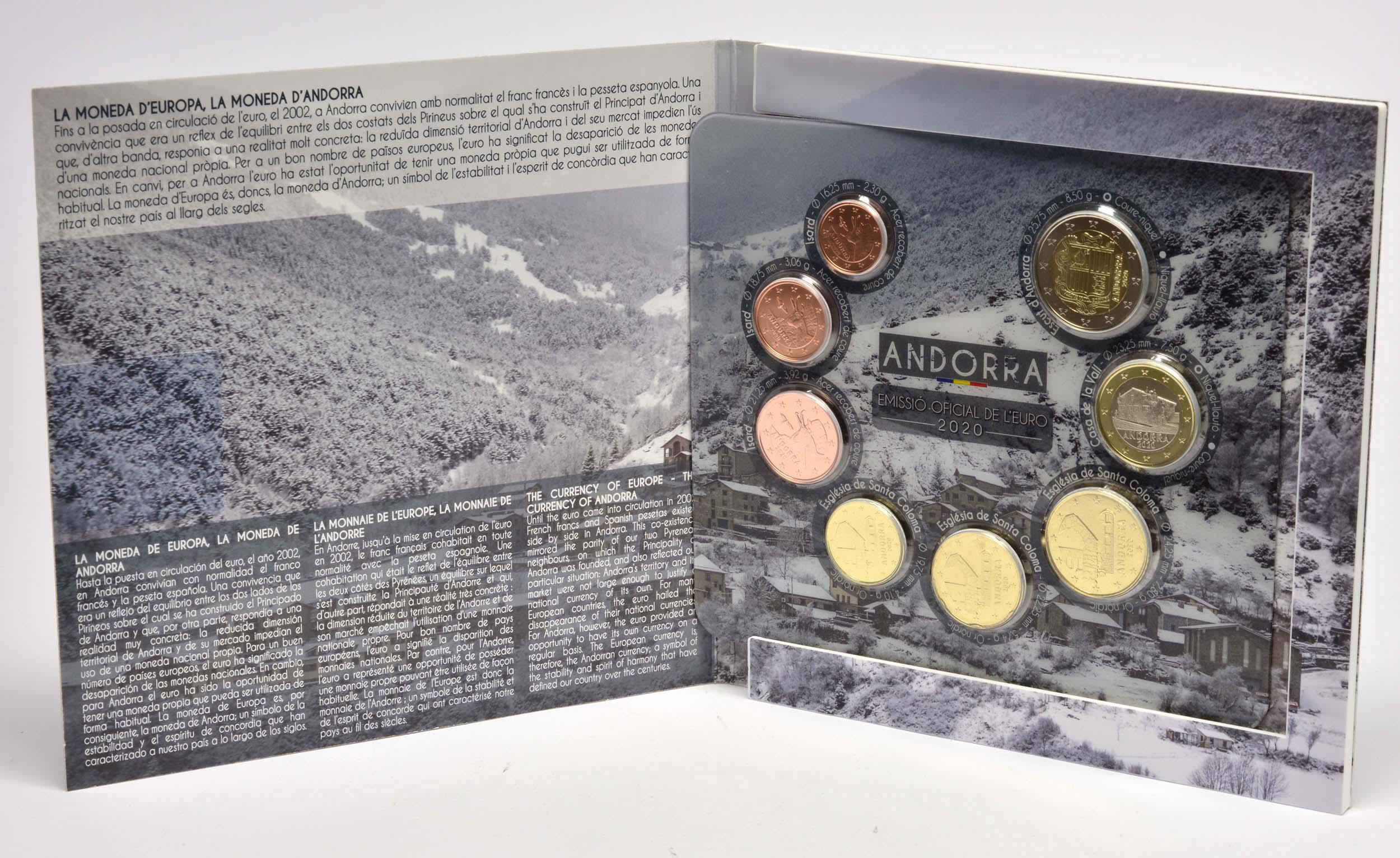 Lieferumfang:Andorra : 3,88 Euro KMS Andorra  2020 bfr