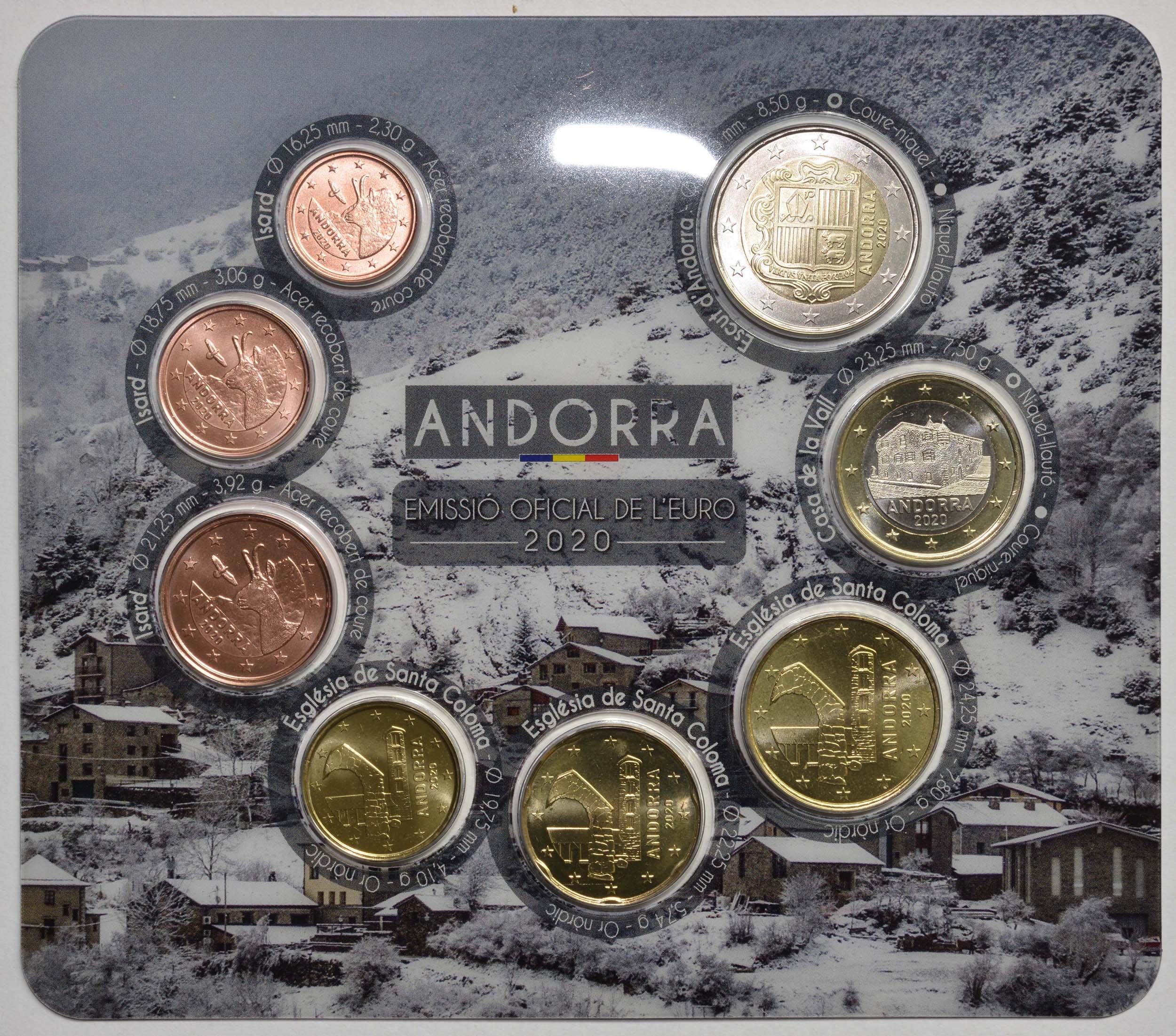 Vorderseite:Andorra : 3,88 Euro KMS Andorra  2020 bfr