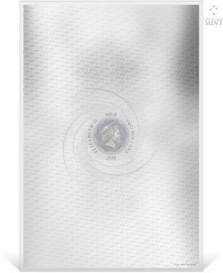 Rückseite:Niue : 2 Dollar Star Wars - Der letzte Jedi/Premium Silver Foil  2020 Stgl.