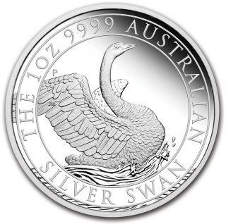 Vorderseite:Australien : 100 Dollar Schwan im Etui  2020 PP