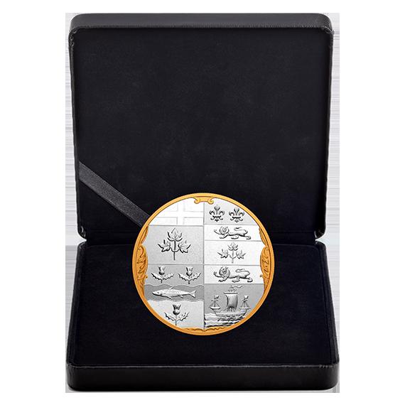 Lieferumfang:Kanada : 100 Dollar Archivschätze – Hist. Wappen Canadas  2020 Stgl.
