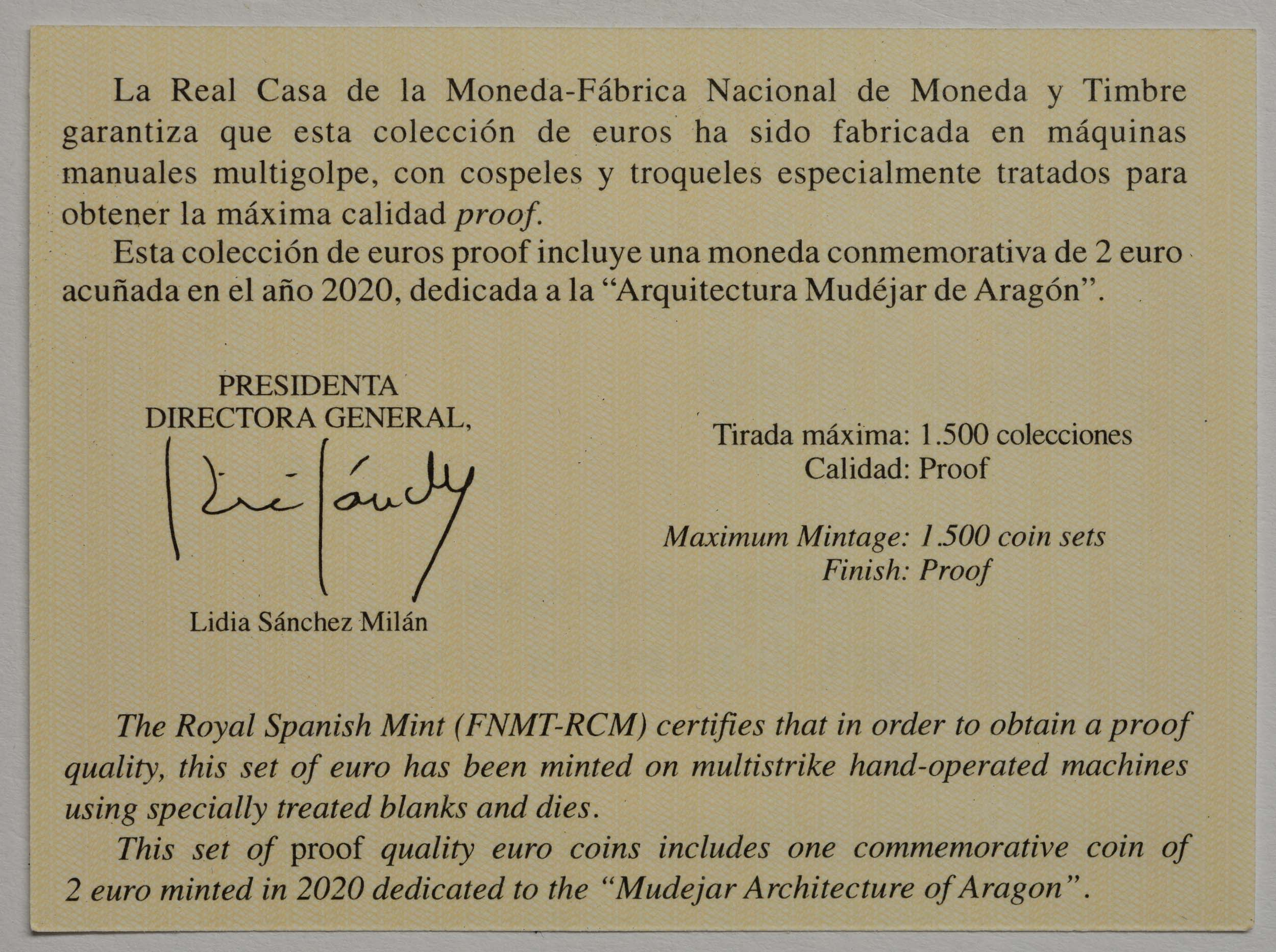Zertifikat:Spanien : 5,88 Euro KMS Spanien  2020 PP