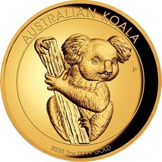 Vorderseite:Australien : 200 Dollar Koala 2 oz Highrelief  2020 PP