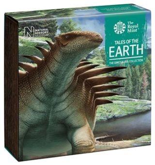 Zertifikat:Großbritannien : 50 Pc Dinosaurier Kollektion - farbig Hylaeosaurus  im Etui  2020 PP