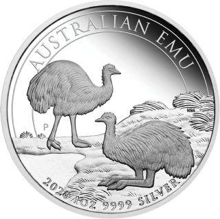 Vorderseite:Australien : 1 Dollar Emu  2020 PP
