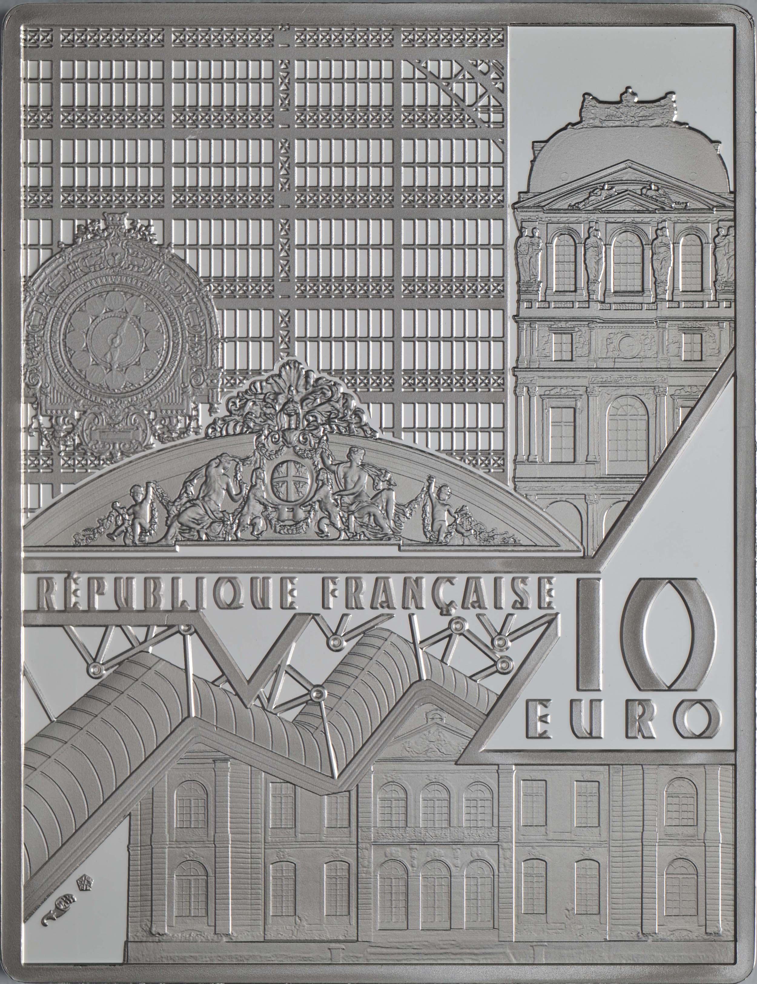 Rückseite:Frankreich : 10 Euro Van Gogh/Selbstportrait  2020 PP
