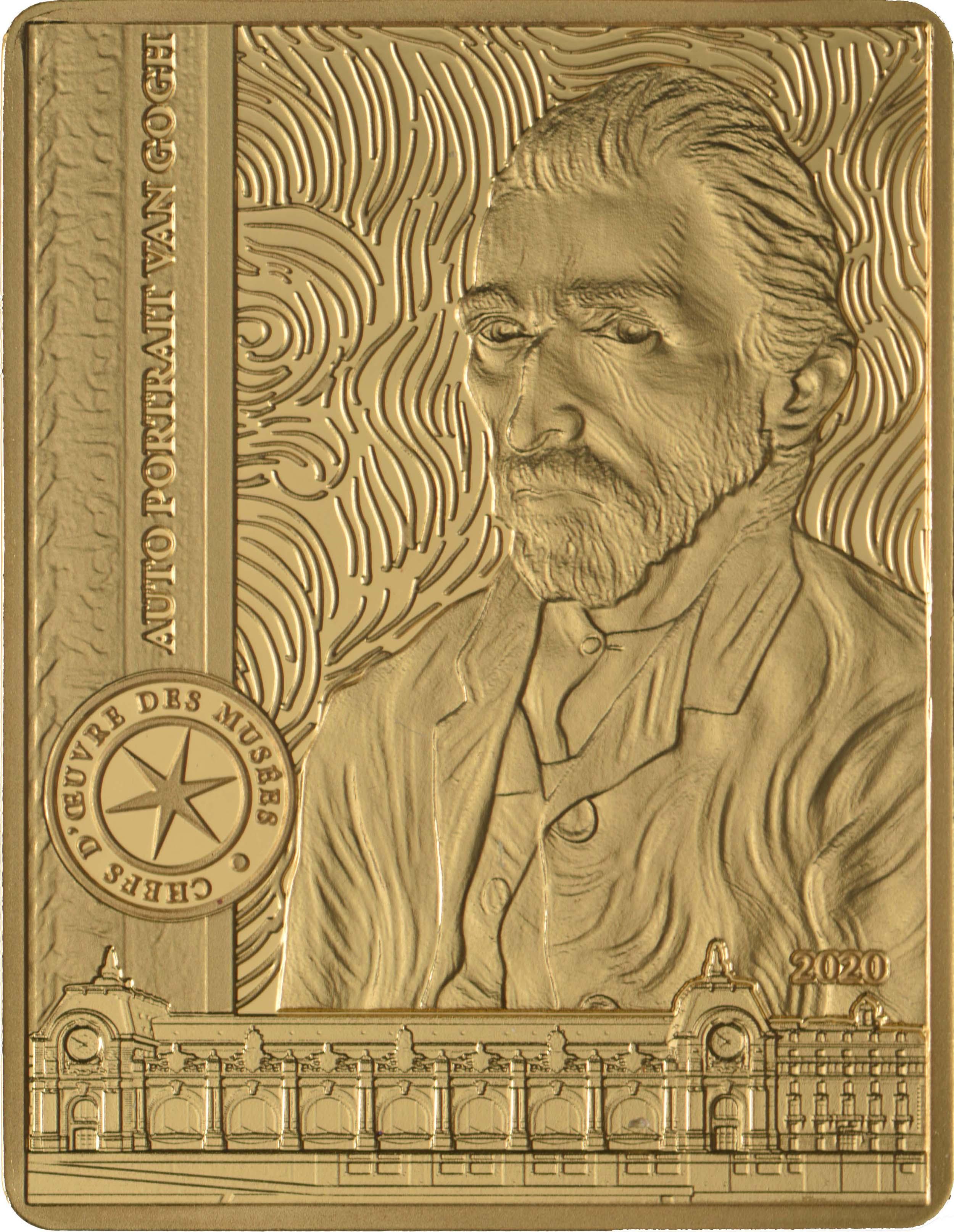 Vorderseite:Frankreich : 50 Euro Van Gogh/Selbstportrait  2020 PP