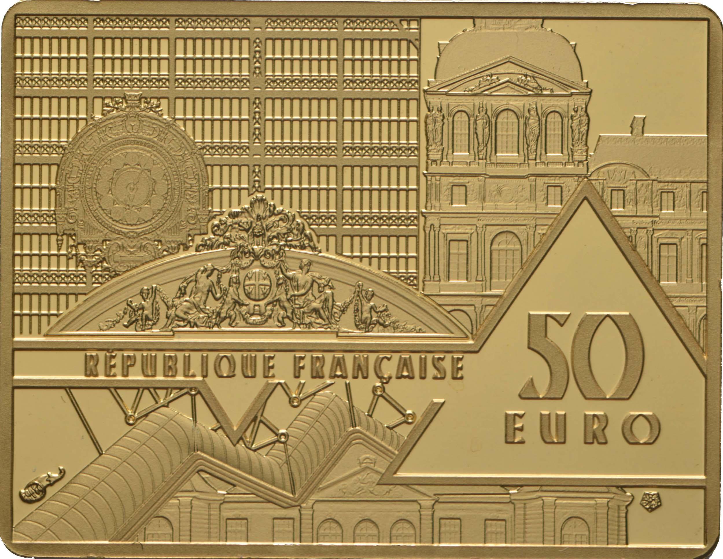 Rückseite:Frankreich : 50 Euro Picasso/Guernica  2020 PP