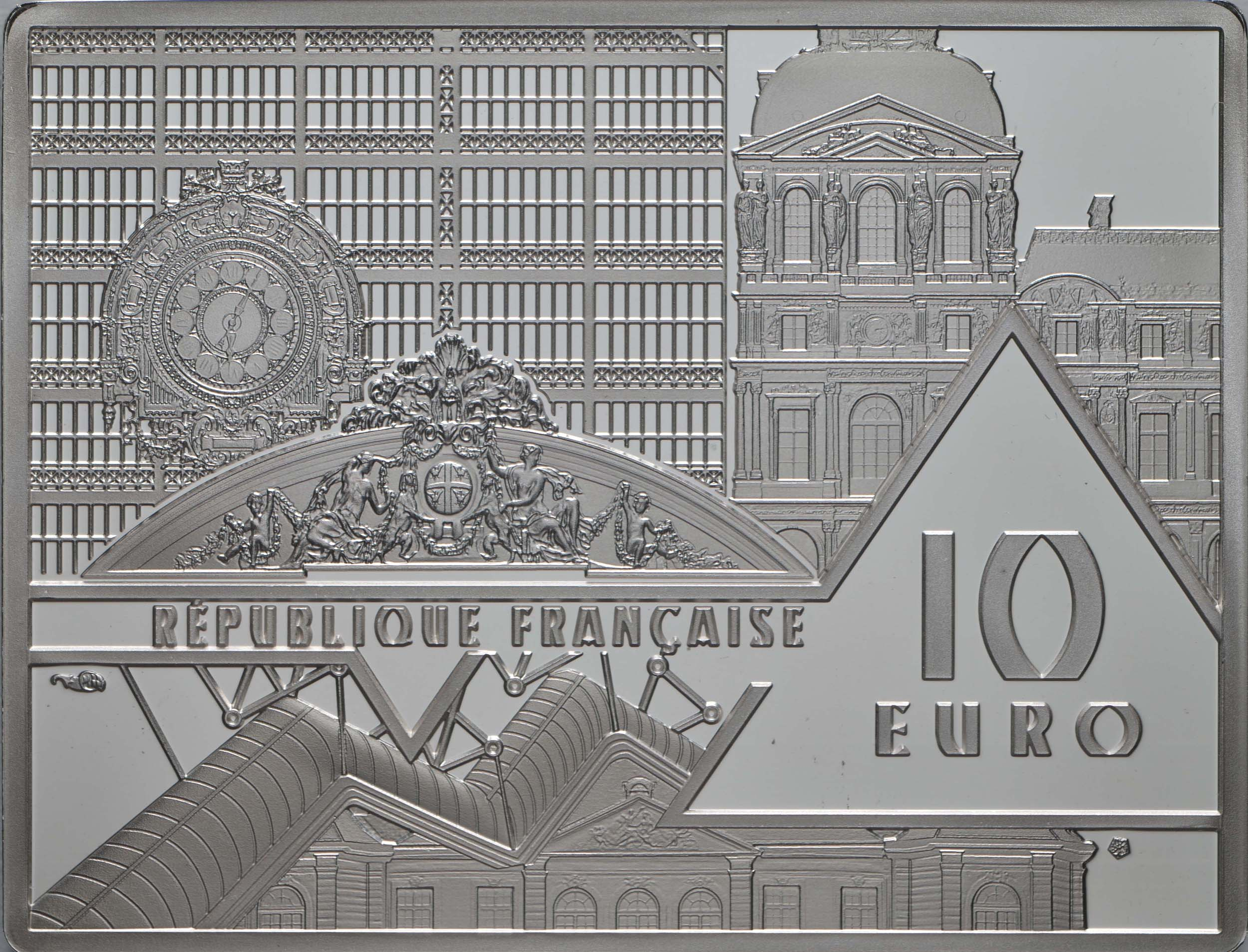 Rückseite:Frankreich : 10 Euro Hokusai/Die Welle  2020 PP