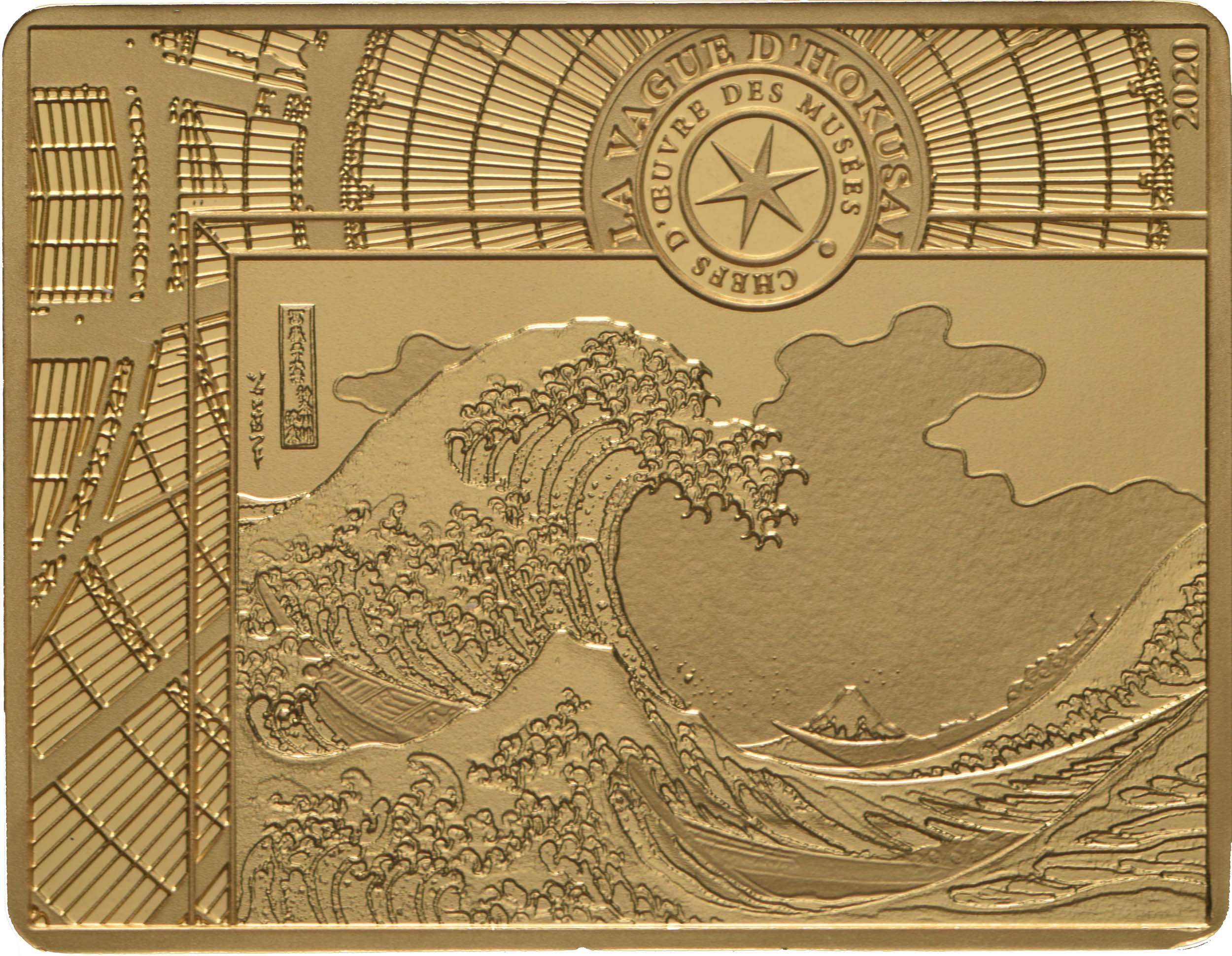 Vorderseite:Frankreich : 50 Euro Hokusai/Die Welle  2020 PP