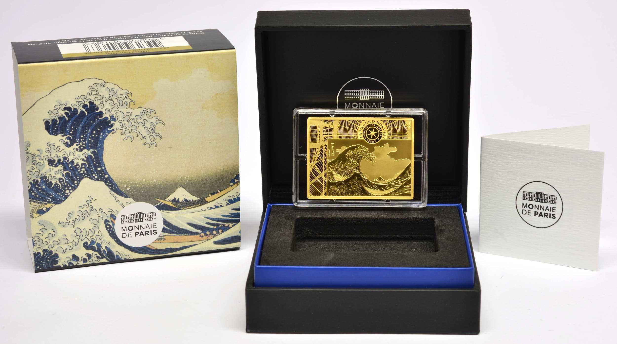 Lieferumfang:Frankreich : 200 Euro Hokusai/Die Welle  2020 PP