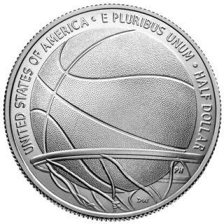Rückseite:USA : 1/2 Dollar Basketball - Hall of Fame  2020 Stgl.