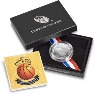 Lieferumfang:USA : 1/2 Dollar Basketball - Hall of Fame  2020 Stgl.