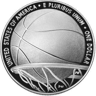 Zertifikat:USA : 1 Dollar Basketball - Hall of Fame  2020 PP