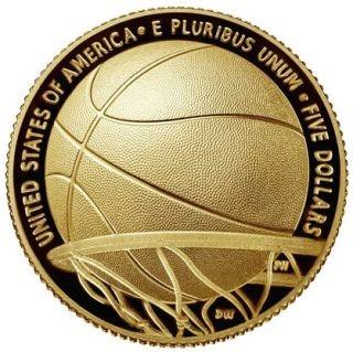 Rückseite:USA : 5 Dollar Basketball - Hall of Fame  2020 PP