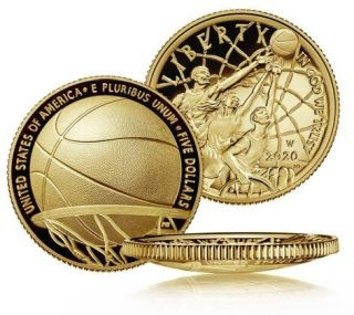 Zertifikat:USA : 5 Dollar Basketball - Hall of Fame  2020 PP
