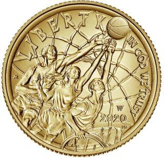 Vorderseite:USA : 5 Dollar Basketball - Hall of Fame  2020 Stgl.