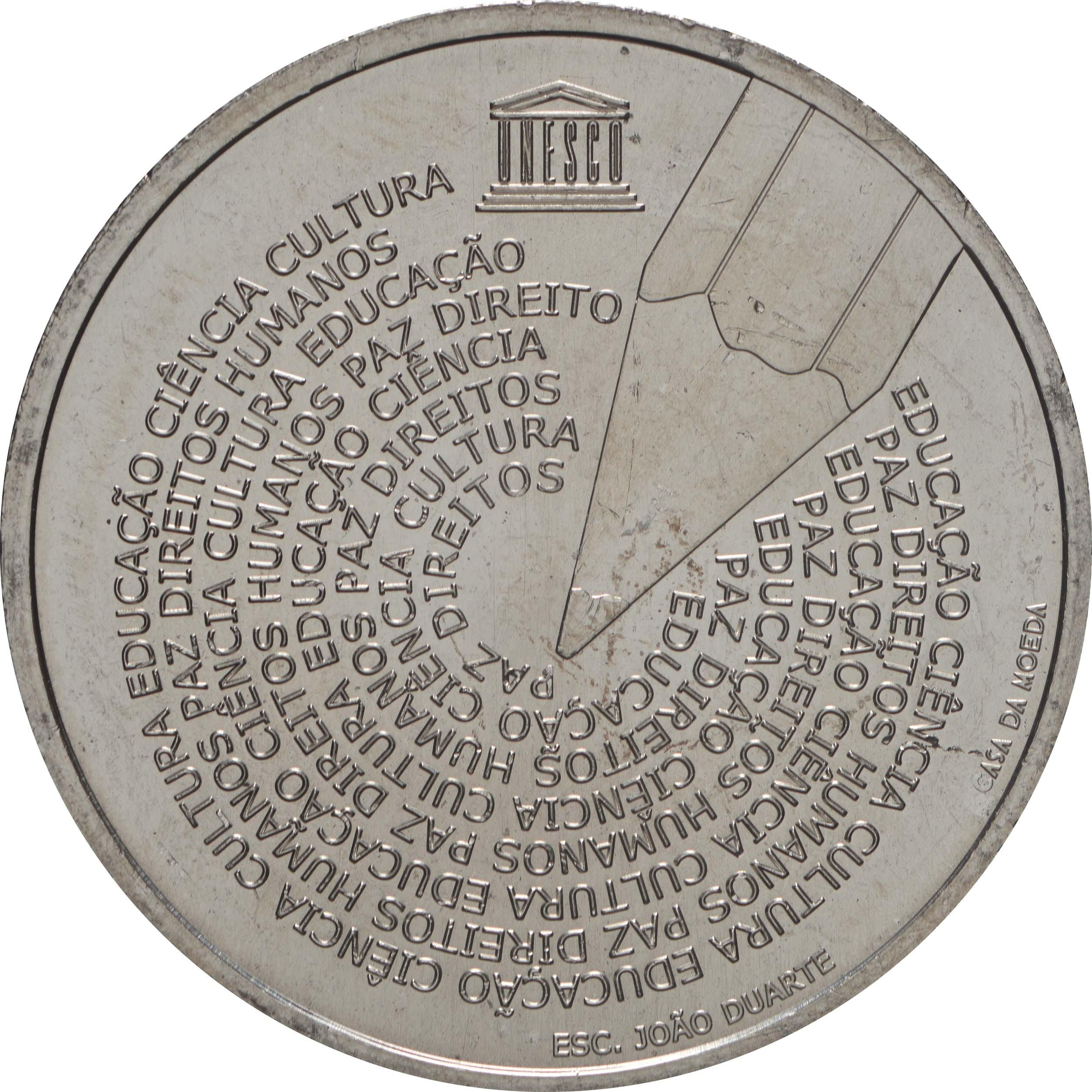 Vorderseite:Portugal : 5 Euro Welttag der Portugiesischen Sprache  2020 bfr