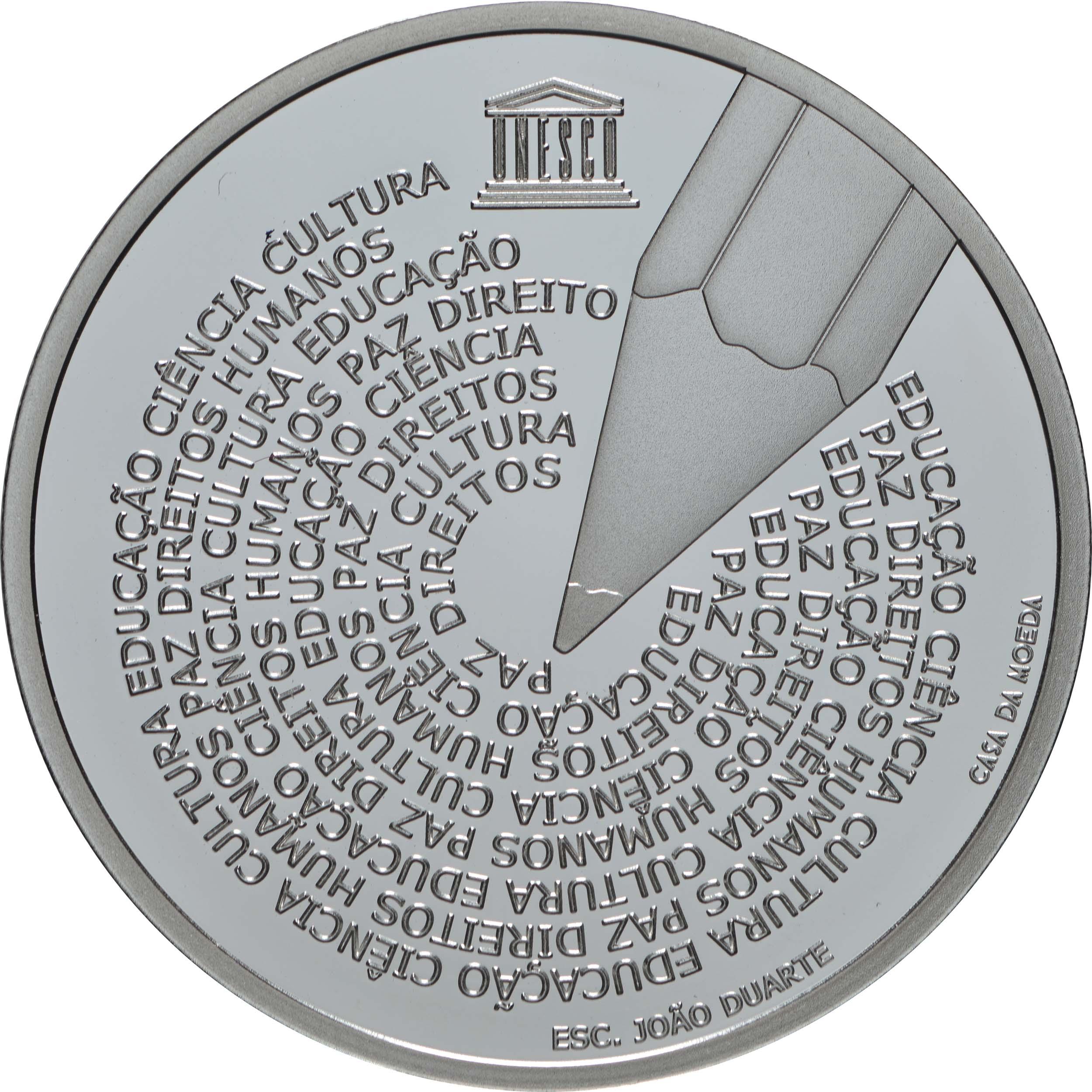 Vorderseite:Portugal : 5 Euro Welttag der Portugiesischen Sprache  2020 PP
