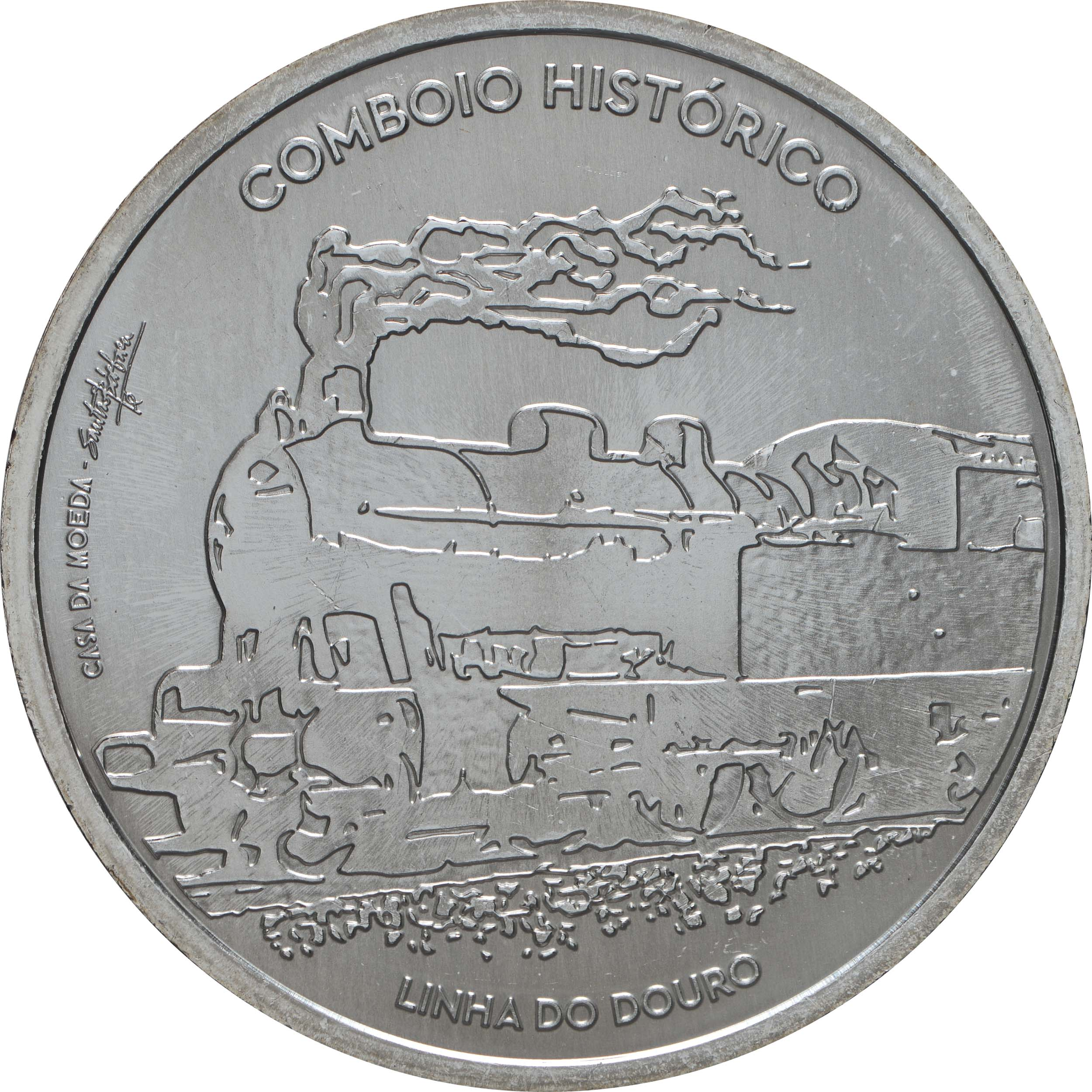 Vorderseite:Portugal : 7,5 Euro Douro Eisenbahnlinie - Iberoamerikan. Serie  2020 bfr