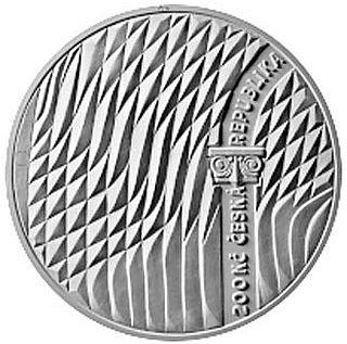Vorderseite:Tschechische Republik : 200 Kronen 100 J. Glasmacherschule Zelezny Brod  2020 PP