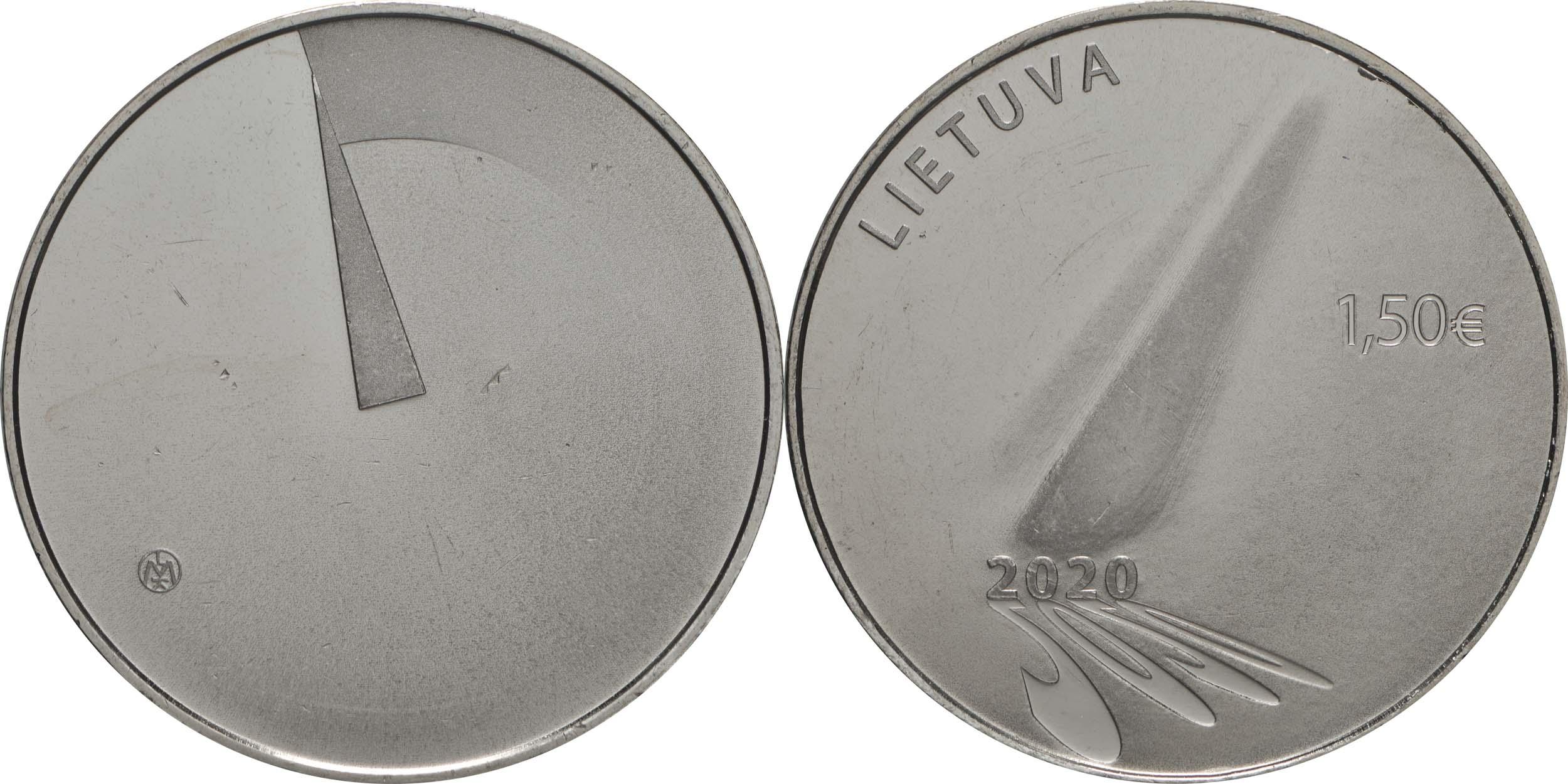 Lieferumfang:Litauen : 1,5 Euro Corona - Hoffnung  2020 Stgl.