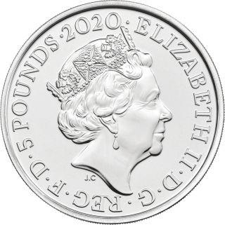 Rückseite:Großbritannien : 5 Pfund Elton John - Musiklegenden  Blister  2020 Stgl.