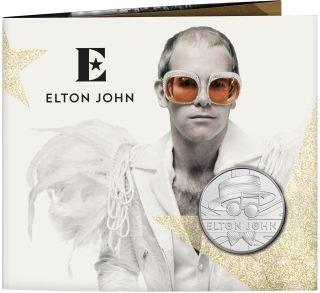 Lieferumfang:Großbritannien : 5 Pfund Elton John - Musiklegenden  Blister  2020 Stgl.