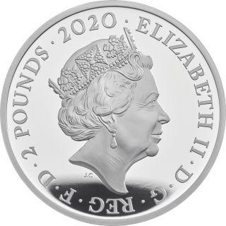 Rückseite:Großbritannien : 2 Pfund Elton John - Musiklegenden   2020 PP