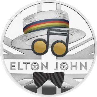 Vorderseite:Großbritannien : 2 Pfund Elton John - Musiklegenden   2020 PP