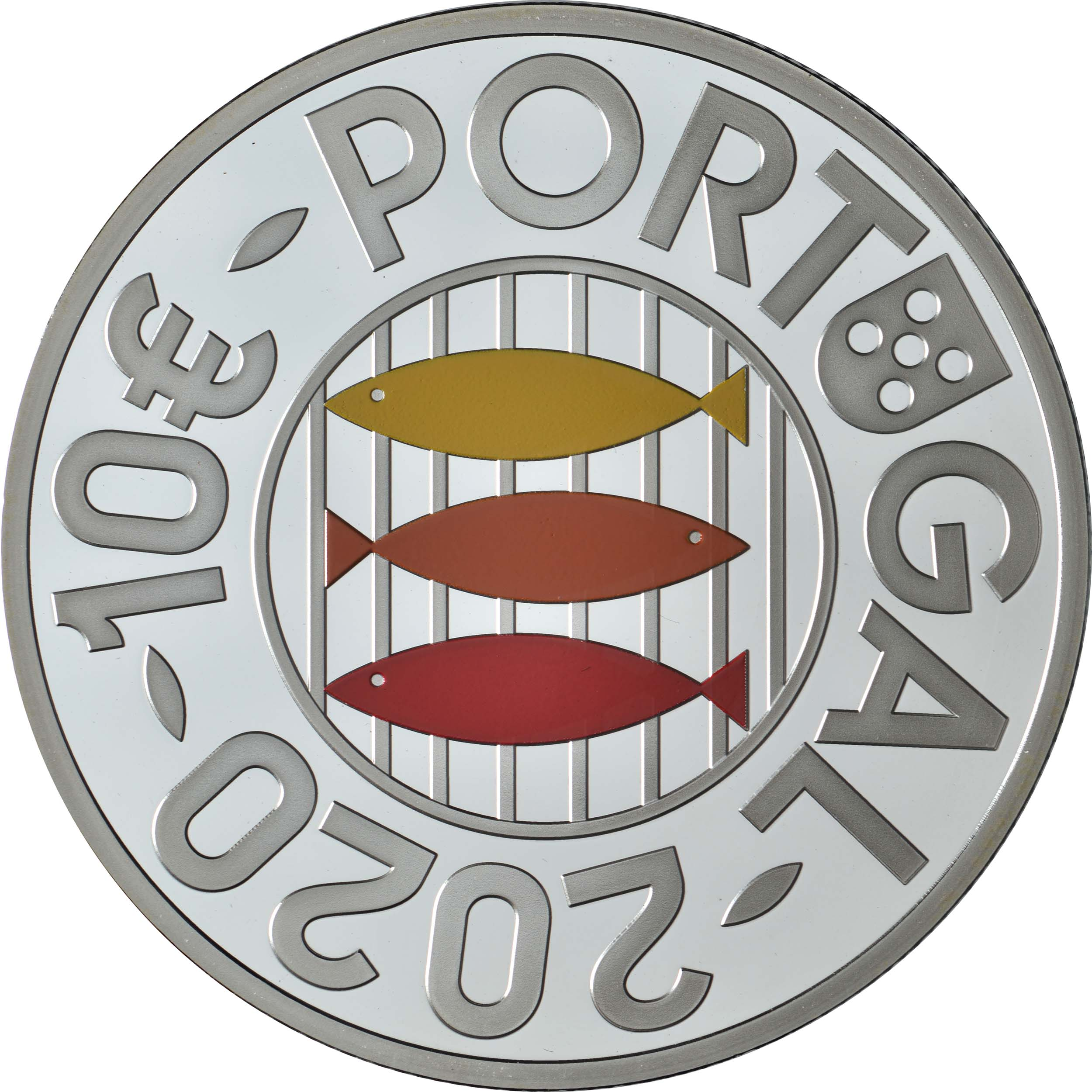 Rückseite:Portugal : 10 Euro Sardinen  2020 PP