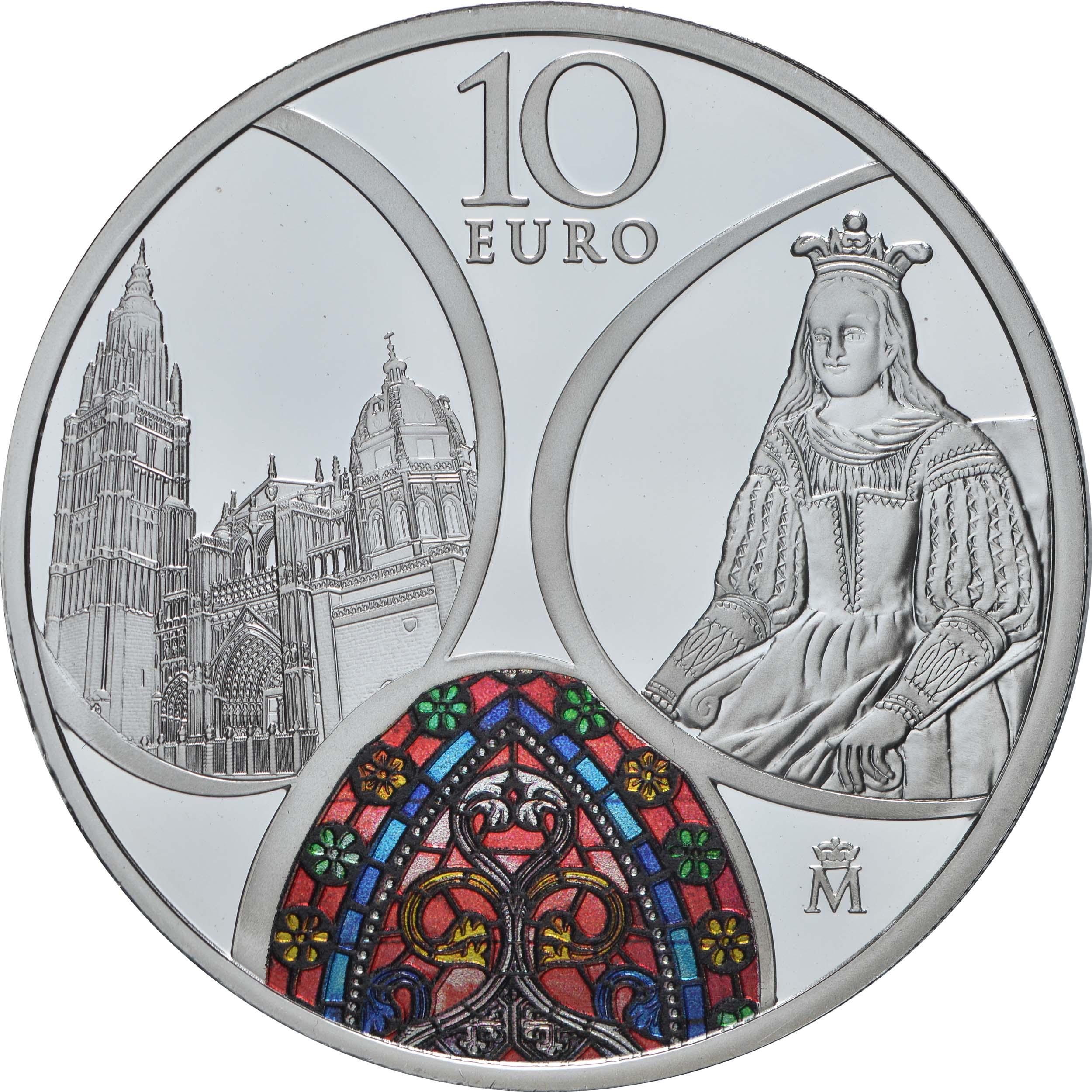 Vorderseite:Spanien : 10 Euro Gothik - Europastern  2020 PP