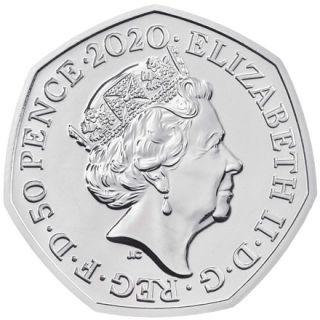 Rückseite:Großbritannien : 50 Pence Rosalind Franklin - Blister  2020 Stgl.