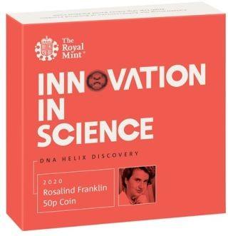 Zertifikat:Großbritannien : 50 Pence Rosalind Franklin Piedfort - im Etui  2020 PP