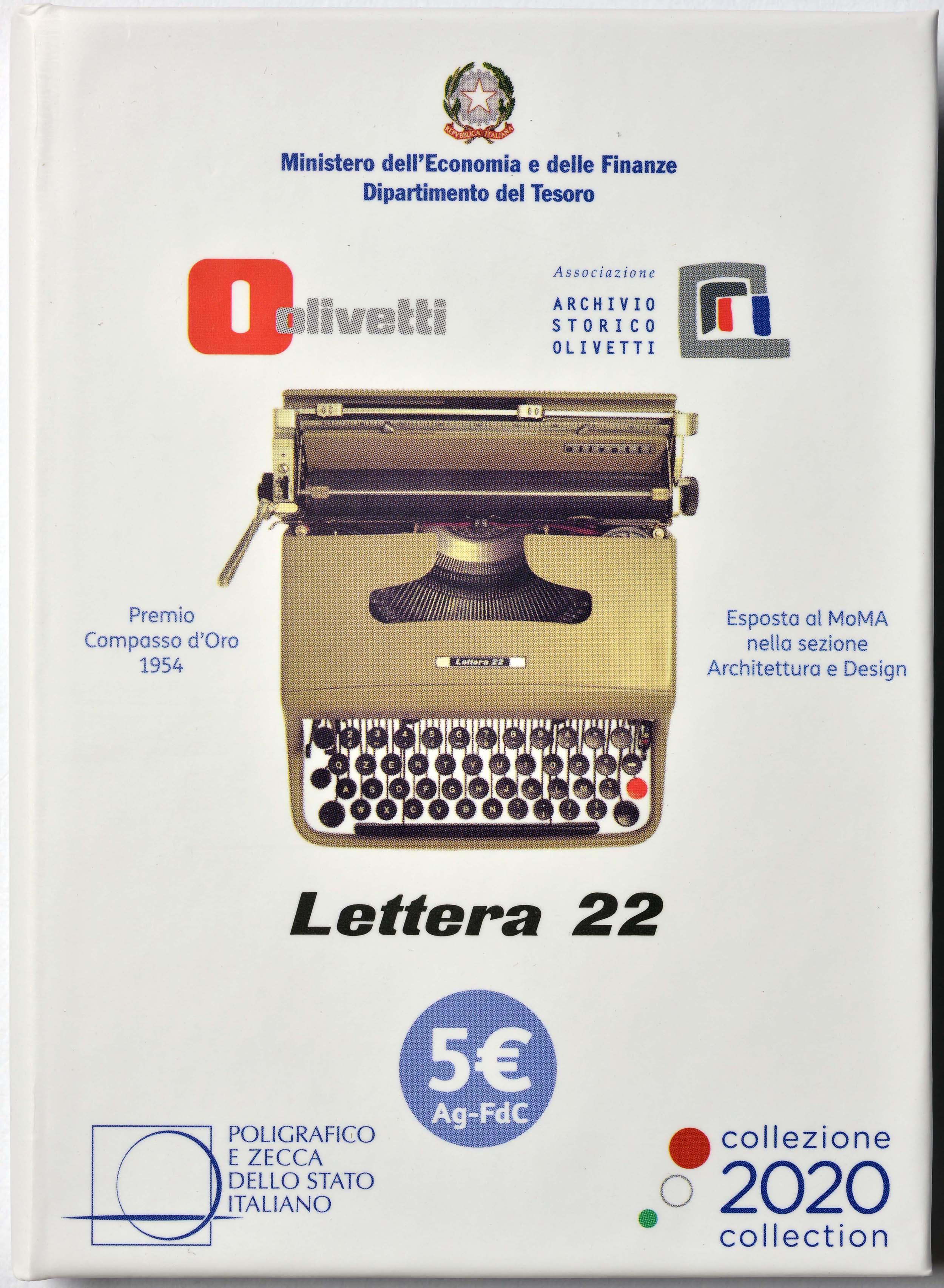 Lieferumfang:Italien : 5 Euro Olivetti weiß  2020 Stgl.