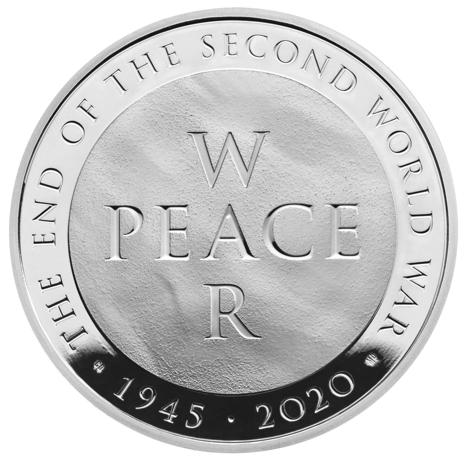 Lieferumfang:Großbritannien : 5 Pfund 75 Jahre Ende WW2 - Piedfort  2020 PP