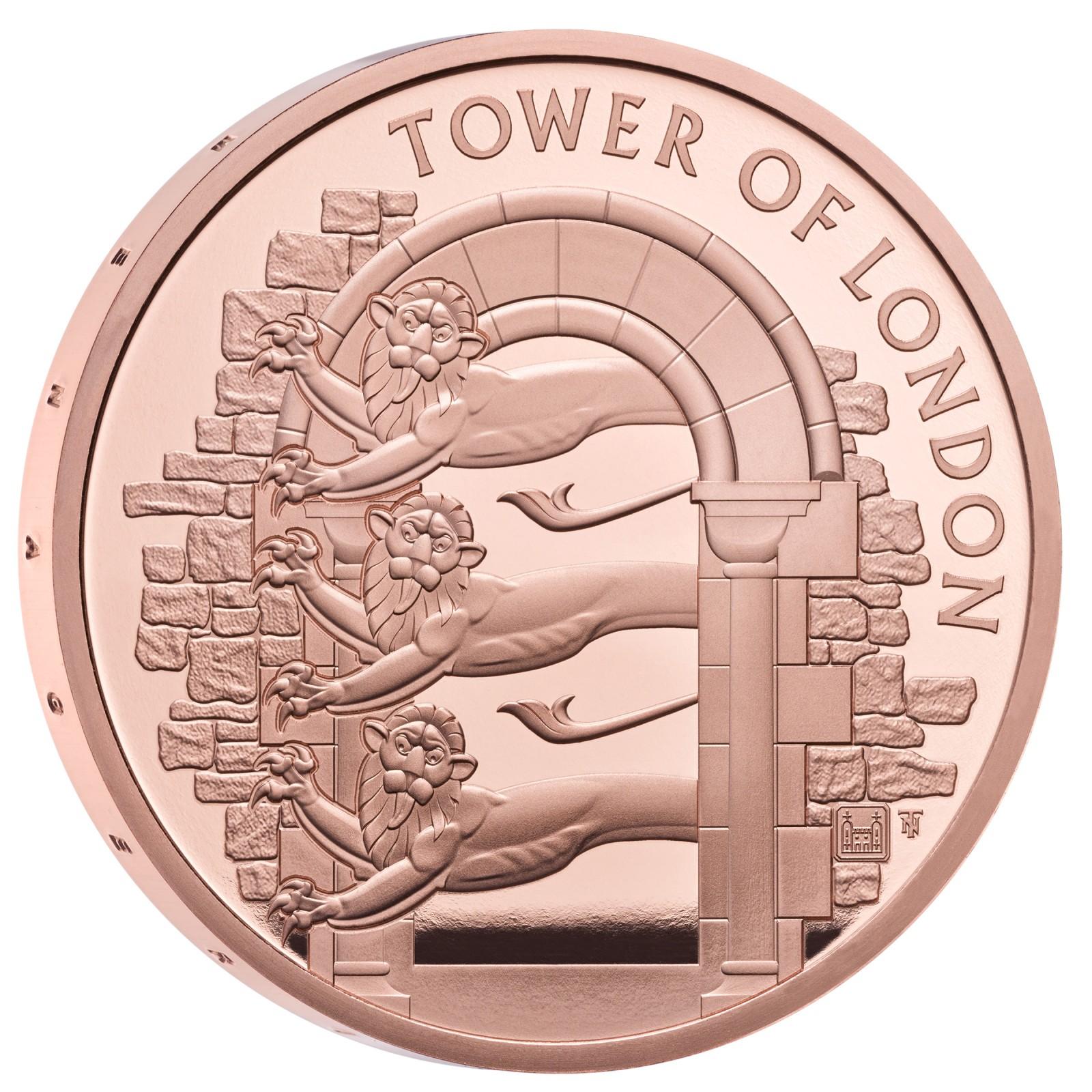 Lieferumfang:Großbritannien : 5 Pfund Der Tower von London – Die königliche Menagerie  2020 PP