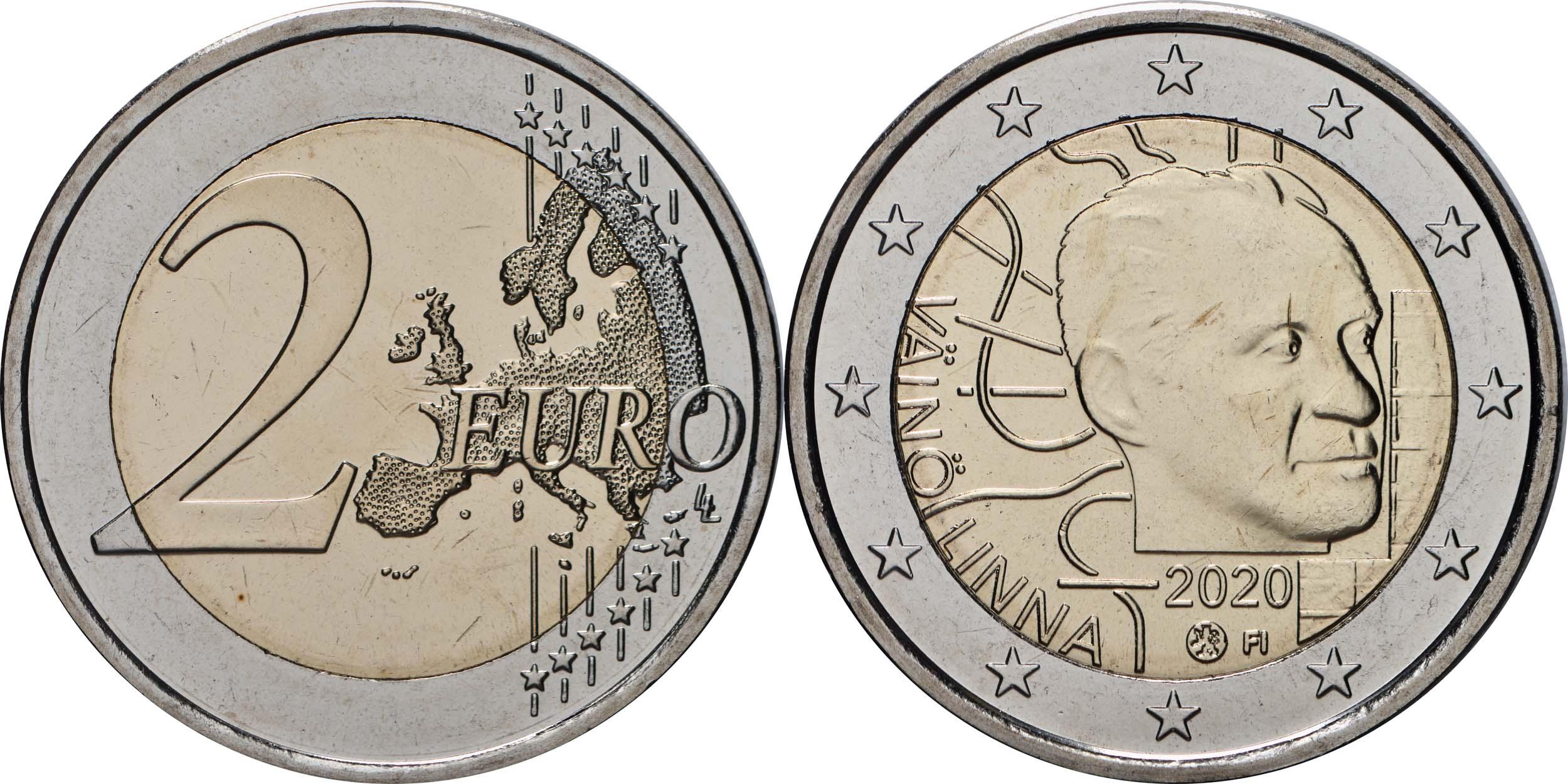 Lieferumfang:Finnland : 2 Euro 100. Geburtstag von Väinö Linna   2020 Stgl.