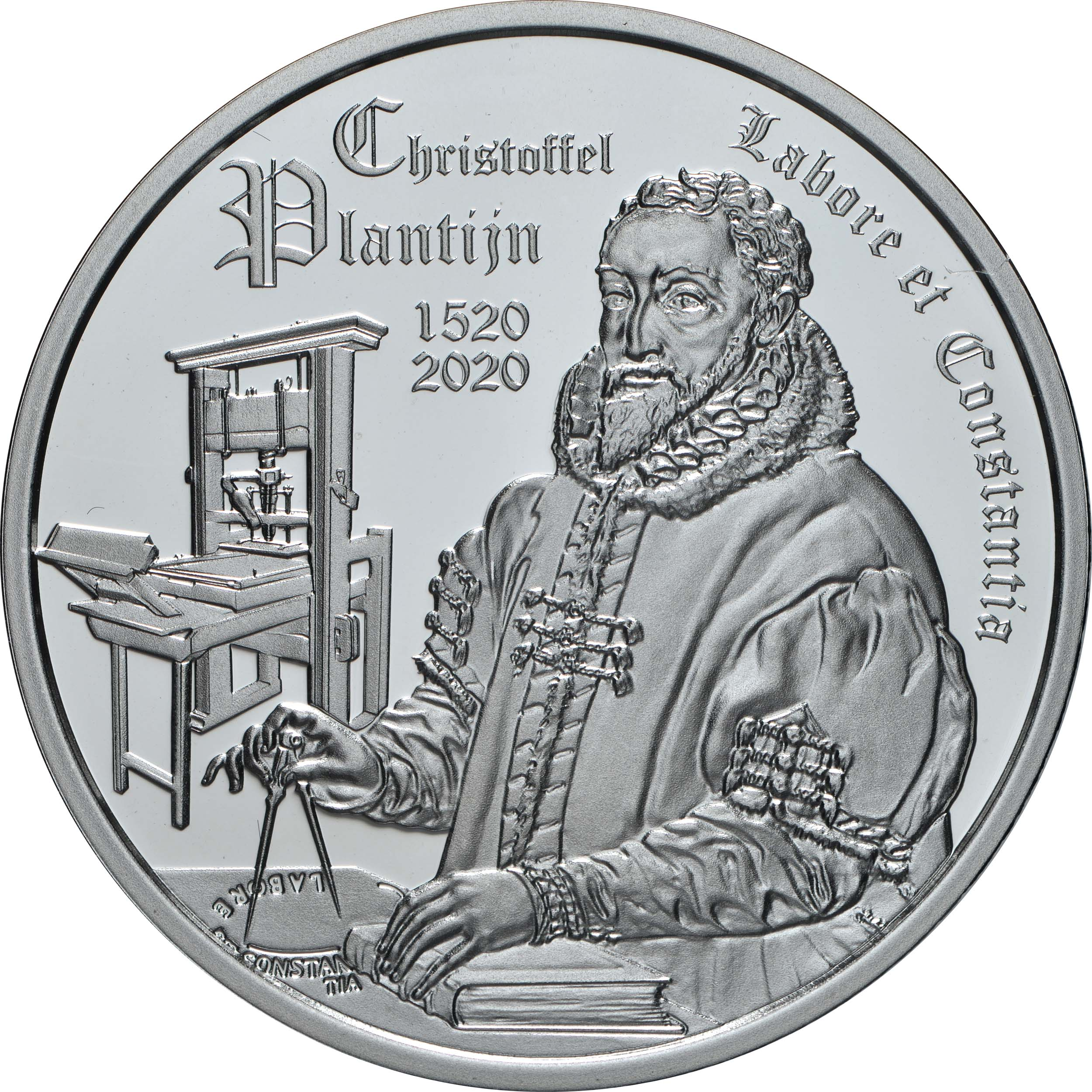 Vorderseite:Belgien : 10 Euro Christoffel Plantijn  2020 PP